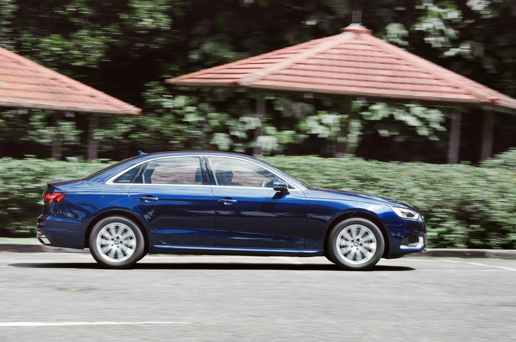 Audi A4 panning shot