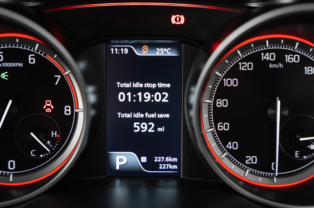 Suzuki Swift Mild Hybrid idle fuel saved