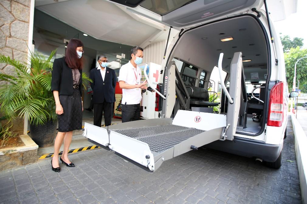 Eurokars Group donates transporter to Singapore Red Cross