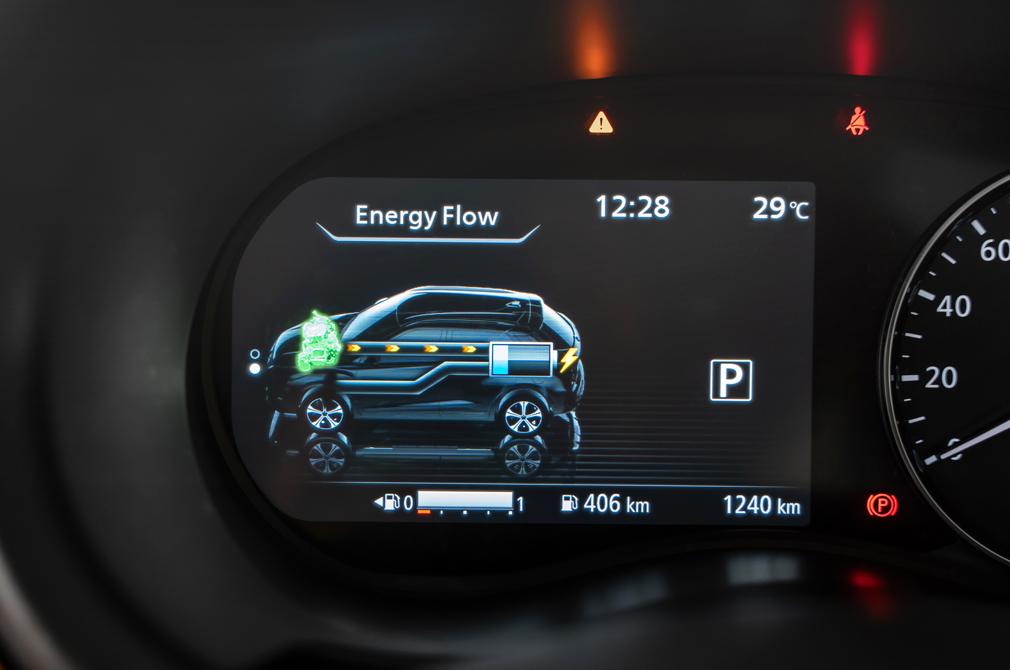 Nissan e-POWER flow gauge Kicks
