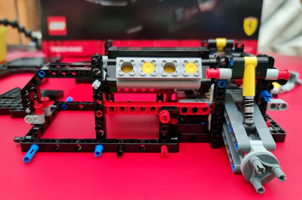 LEGO Ferrari 488 GTE AF Corse engine build
