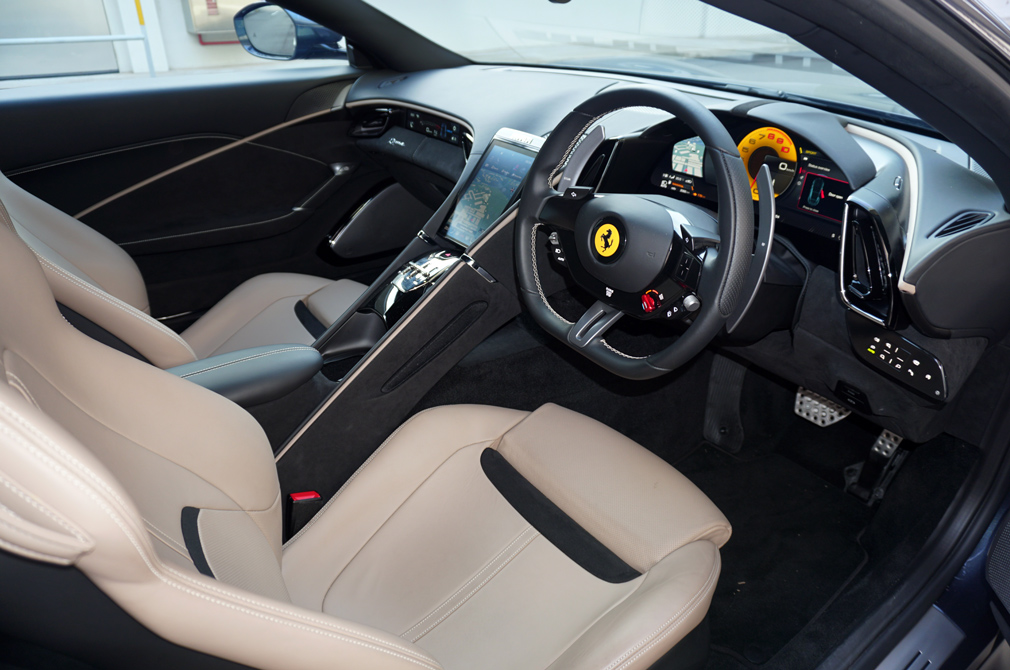 Ferrari Roma cockpit