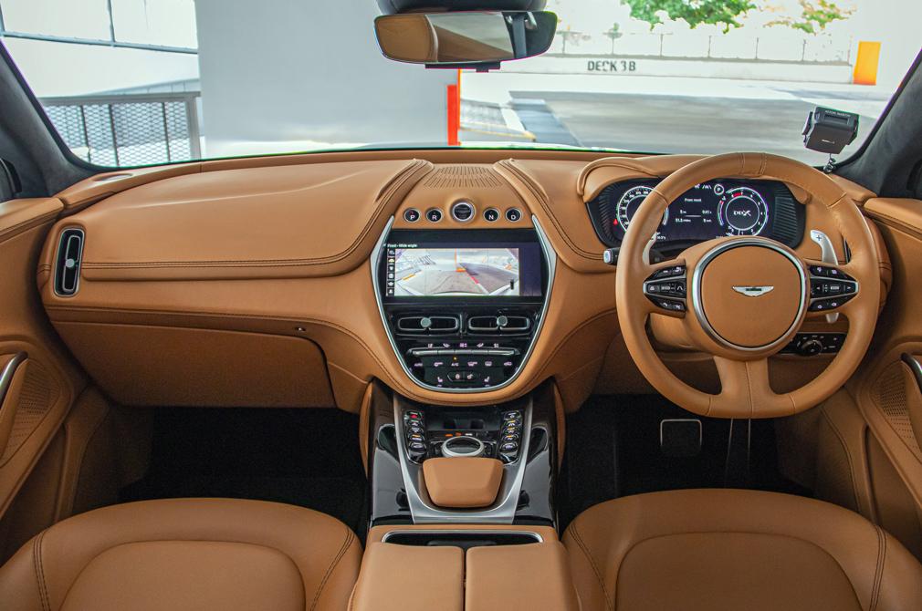 Aston Martin DBX cockpit