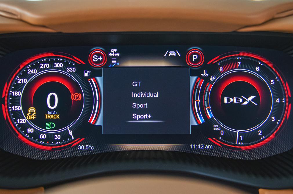 Aston Martin DBX meters