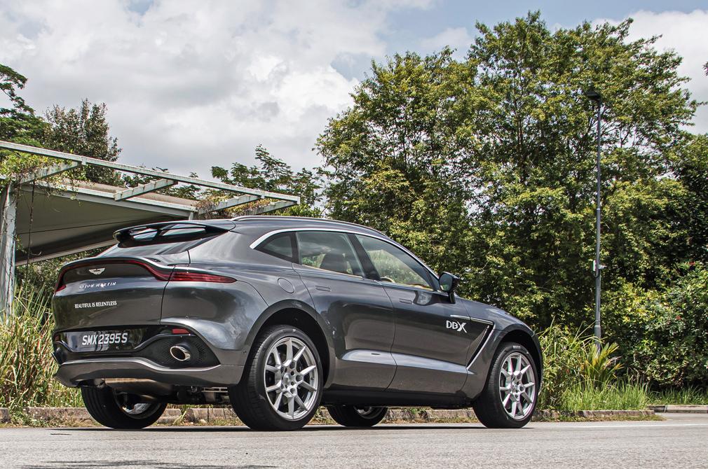 Aston Martin DBX rear angle