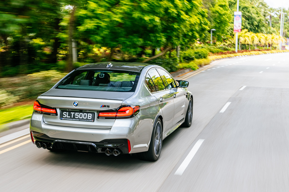 BMW M5 Competition rear tracking 1