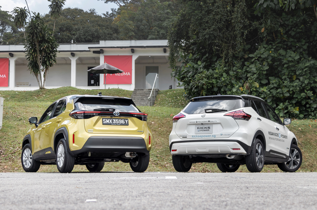 toyota yaris cross hybrid and nissan kicks e-power