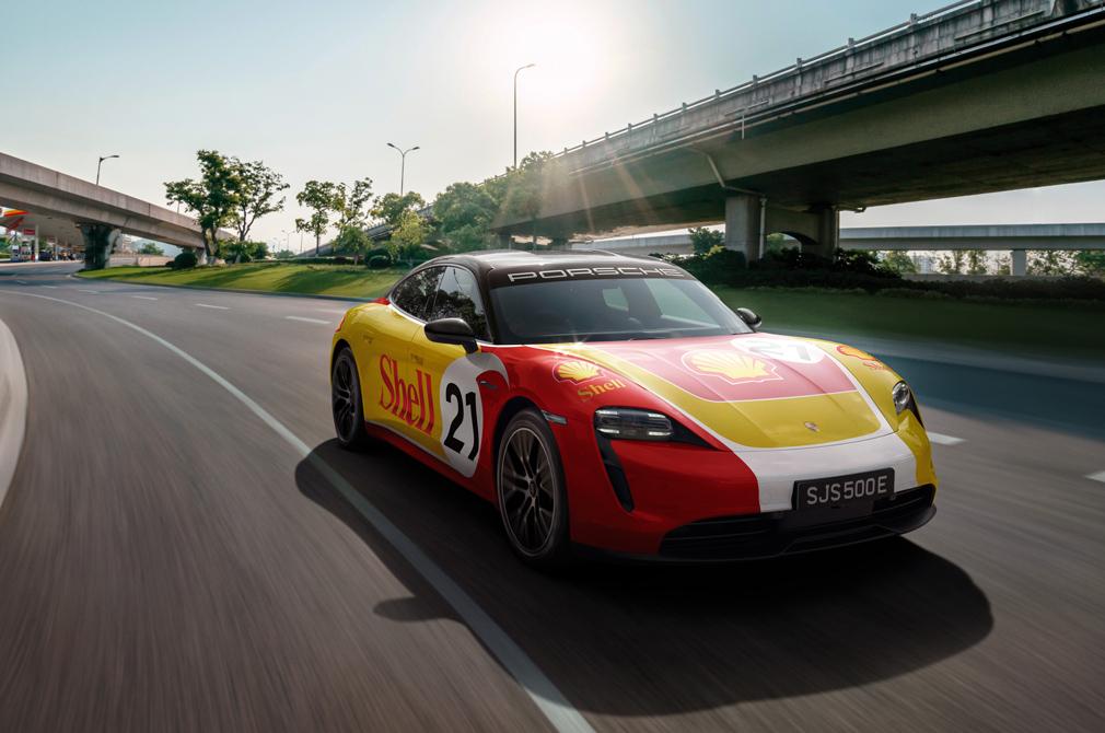Porsche x Shell charging network