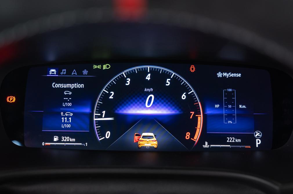 Renault Megane RS meters new