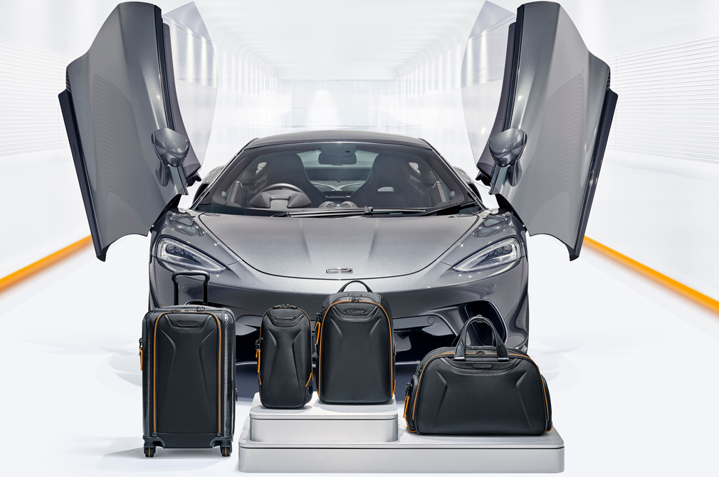TUMI McLaren inspired luggage