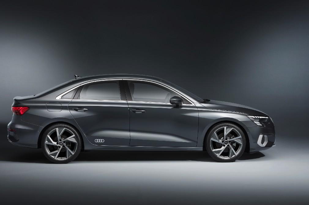 Audi A3 Sedan profile studio shot