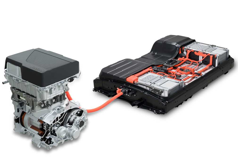 EV motor and battery from Nissan Leaf