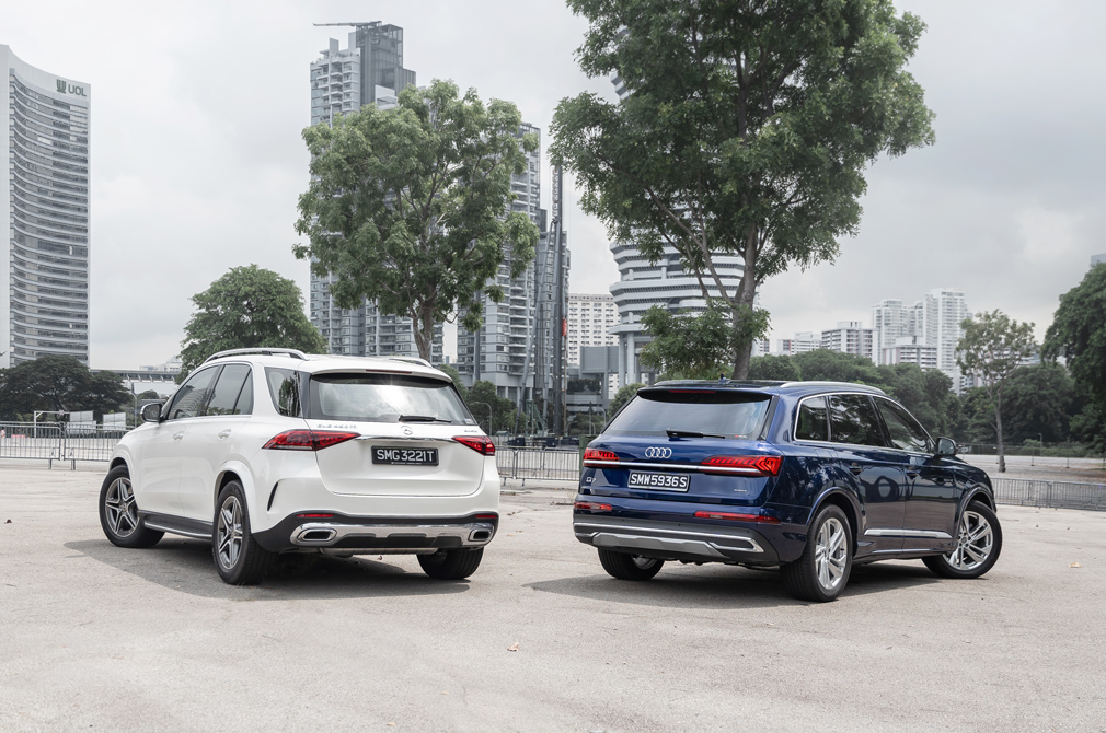 Mercedes-Benz GLE 450 and Audi Q7