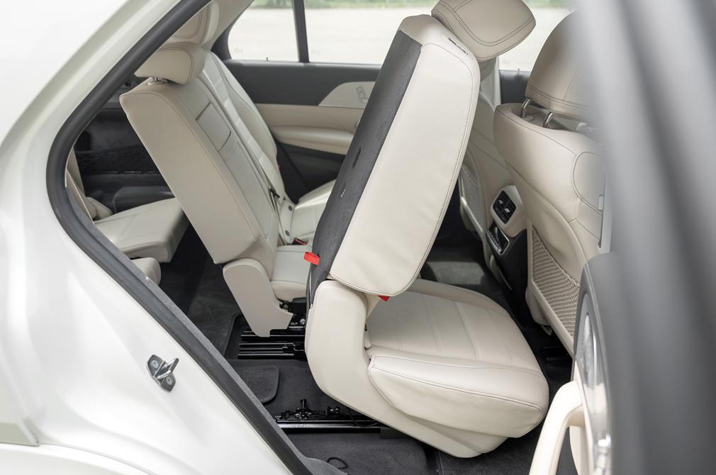 Mercedes-Benz GLE450 third-row access
