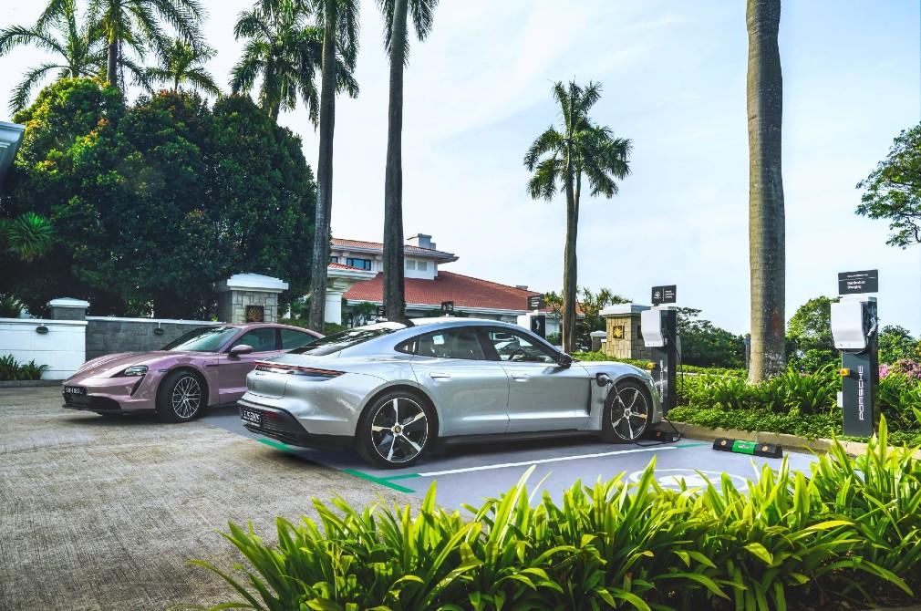 Porsche Destination Charging at Sentosa Golf Club