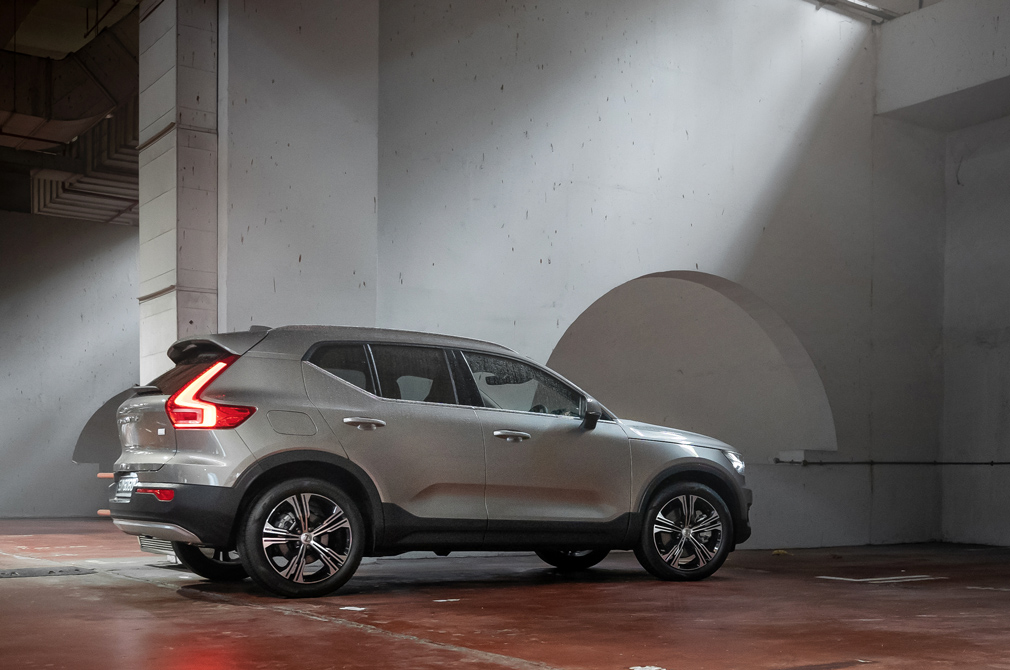 volvo xc40 recharge rear angle