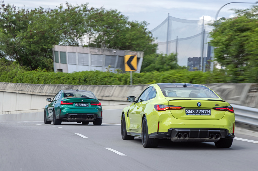 bmw m3 competition and m4 competition rear tracking