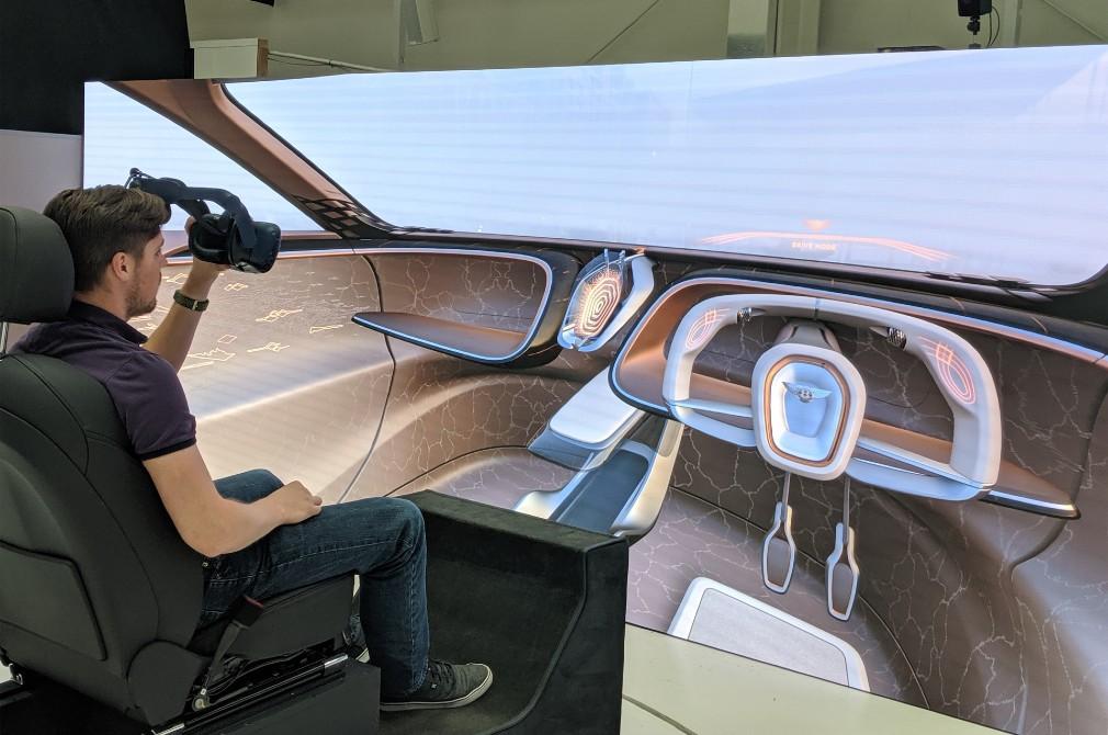 bentley design using virtual reality