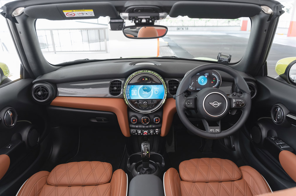 MINI Cooper S Convertible interior shot